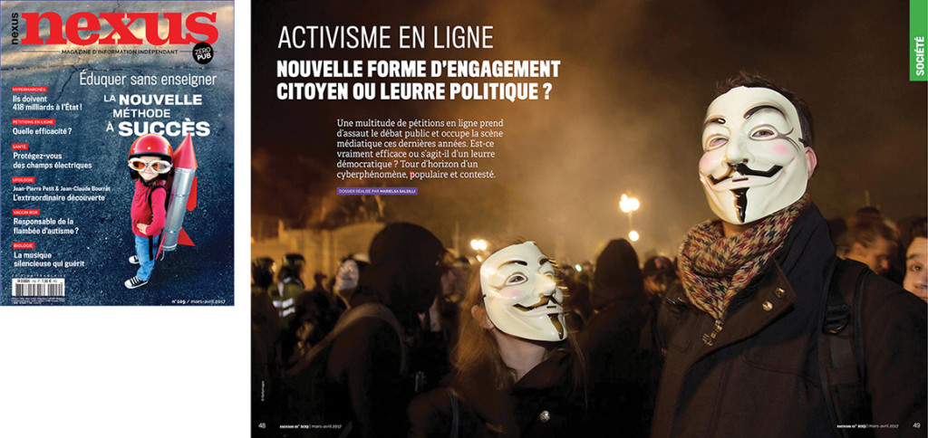 cyberactivisme pétitions en ligne Nexus 109