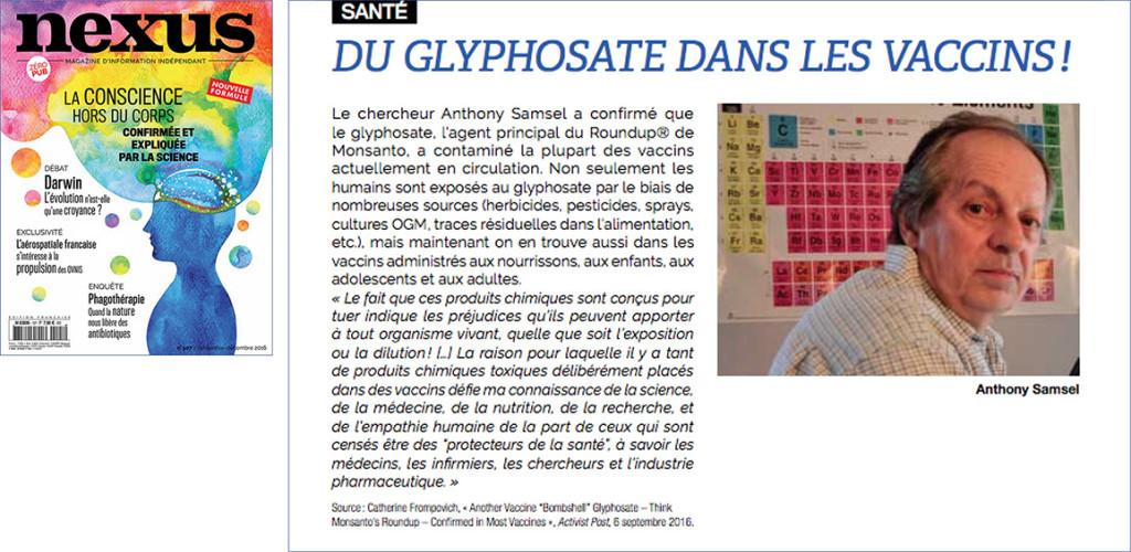 glyphosate vaccins