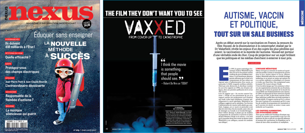 Autisme vaccin et politique Nexus 109