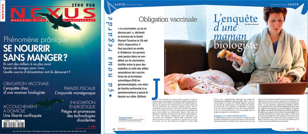 Obligation vaccinale Nexus 106