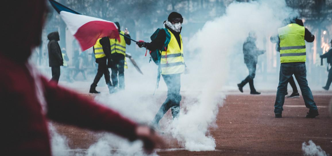 People in teargas