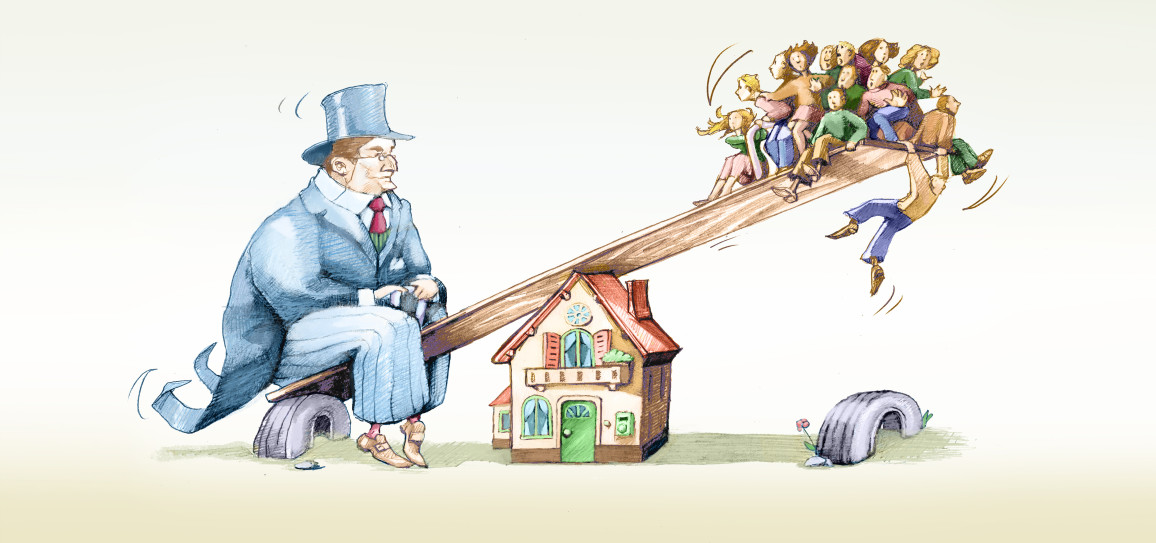 swing between a financier and the people who come on a mortgage
